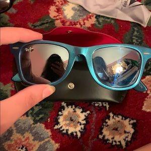 Rayban reflective wayfarer sunglasses